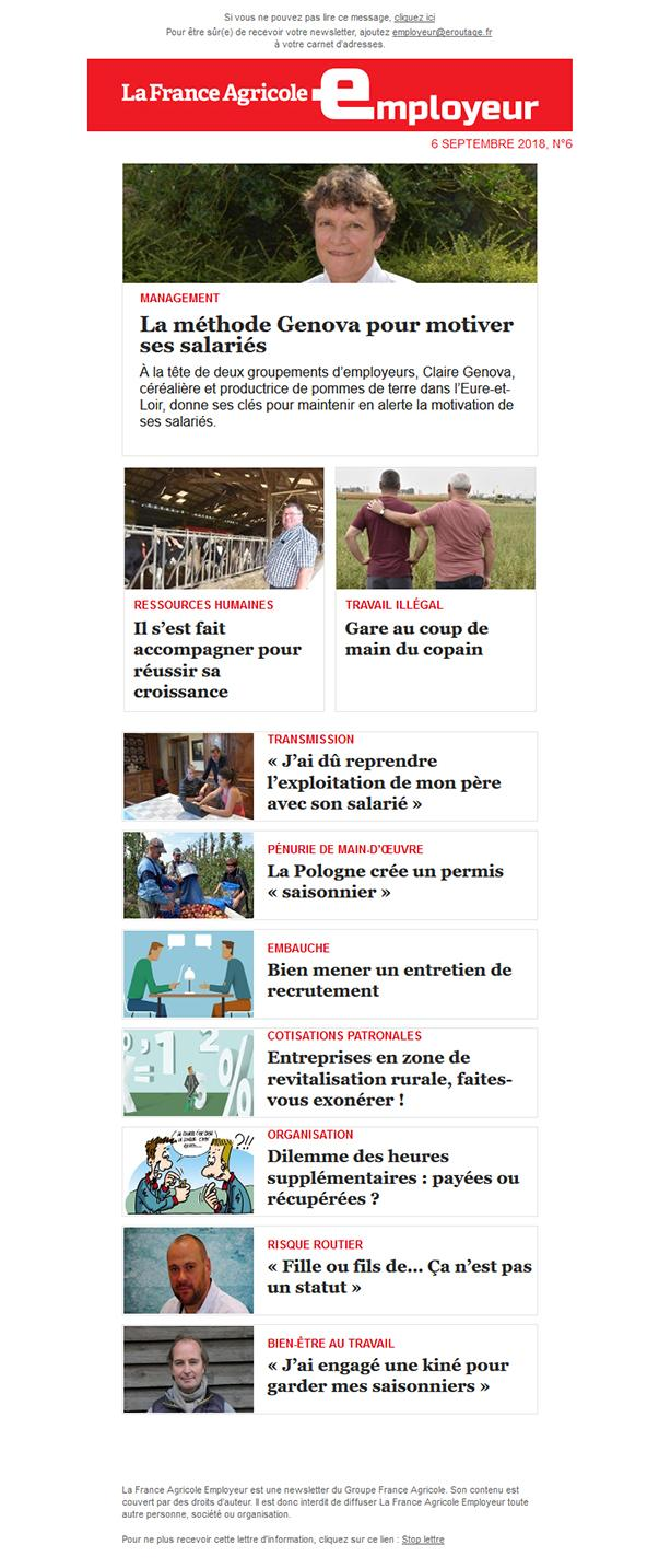 Newsletter FAE  n°La France Agricole Employeur n°6