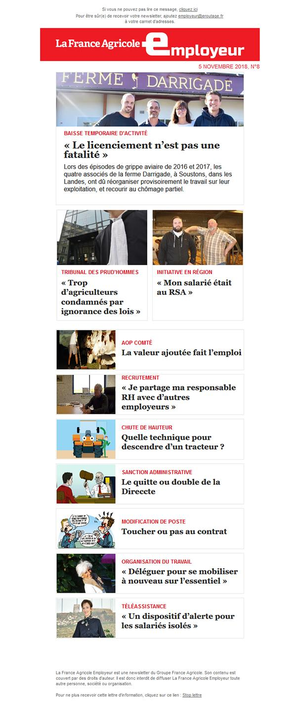 Newsletter FAE  n°La France Agricole Employeur n°8